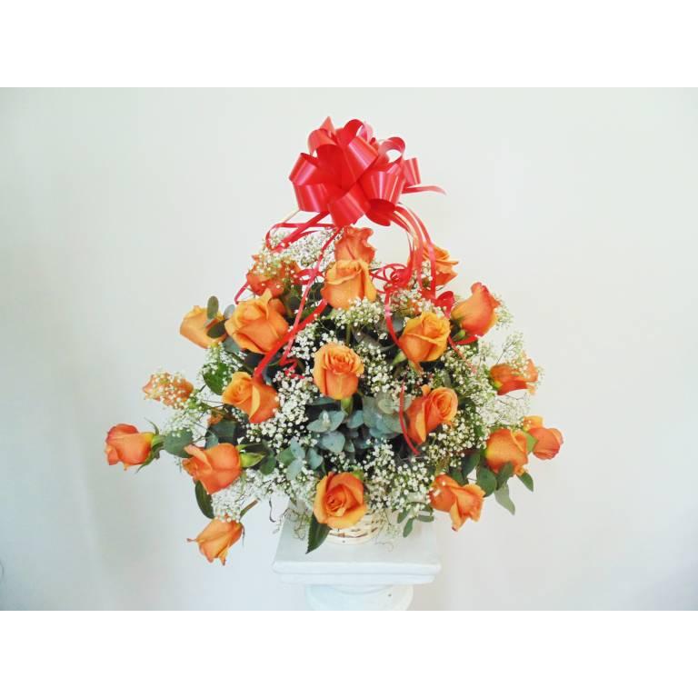 30 Rosas Naranjas para Agasajar