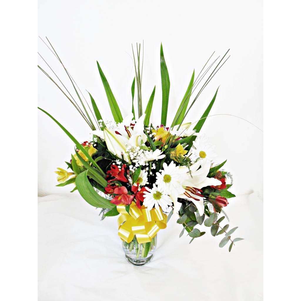 Ramo de Flores Variadas en Florero