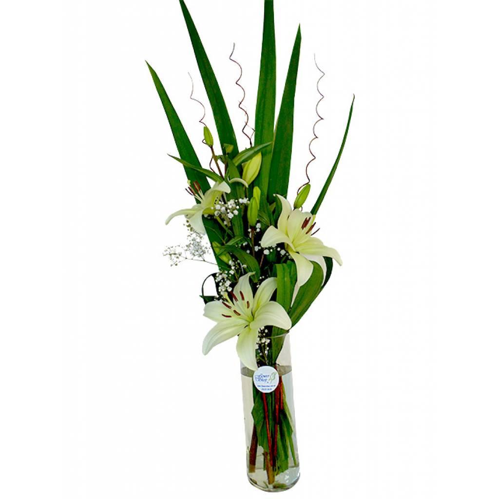 Florero Con Liliums