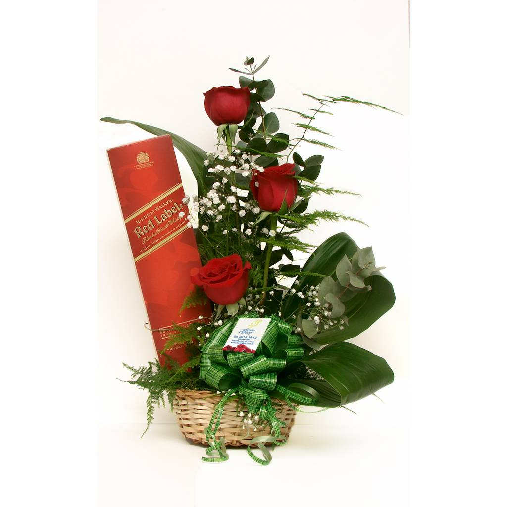 Flores premium + Whisky Johnnie