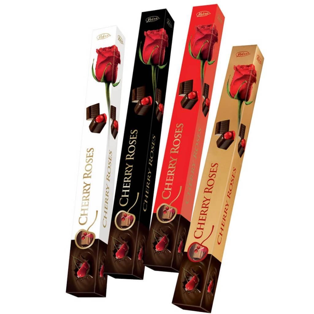 Bombonera Cherry Roses